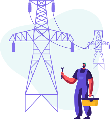 ilustração de distribuidora de energia