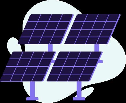 ilustração de painel solar da fazenda solar órigo energia
