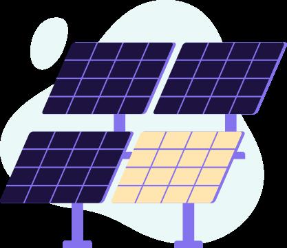 ilustração de lote contratado da fazenda solar órigo energia